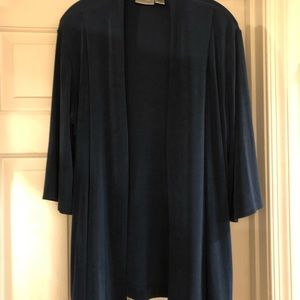Dark teal Chicos travelers jacket, size 2 tall